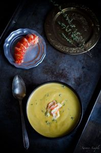 Amazing lobster bisque