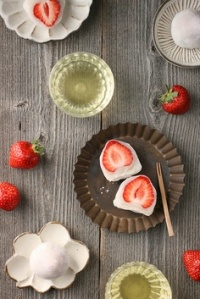 Ichigo daifuku - with a whole strawberry inside