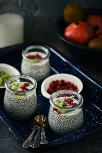 Chia Seed Pudding , with pomegranate and pistachios...Perfect!