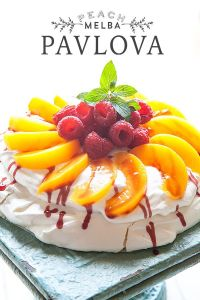 Easy Peach Melba Pavlova from Whipperberry recipe at TidyMom.net